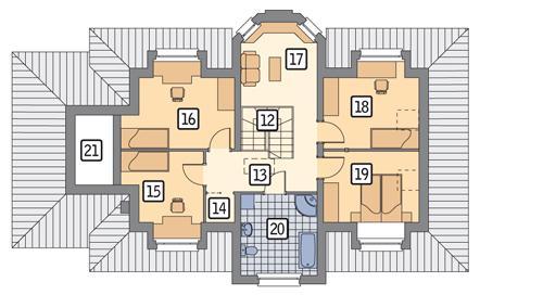 Rzut poddasza POW. 137,8 m²
