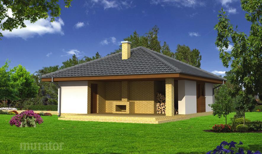 GC56a Garaż z pomieszczeniem gospodarczym i wiatą rekreacyjną