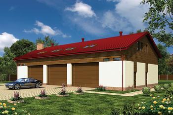Budynek garażowo-magazynowy z poddaszem mieszkalno-gospodarczym