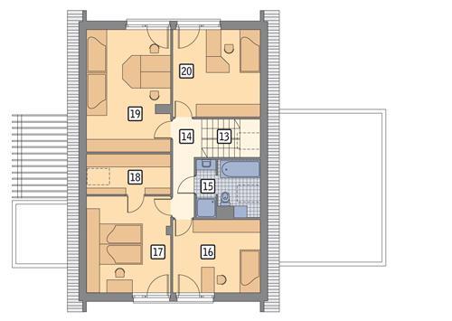 Rzut poddasza POW. 96,4 m²