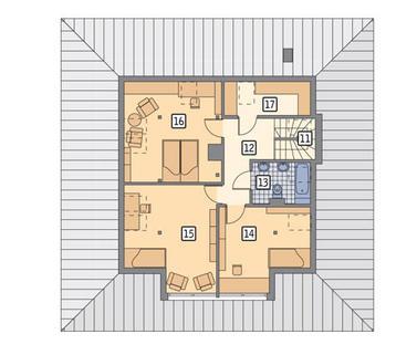RZUT PODDASZA POW. 58,6 m²